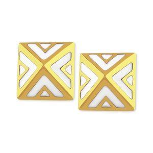 Vince Camuto pyramid geometric stud earrings
